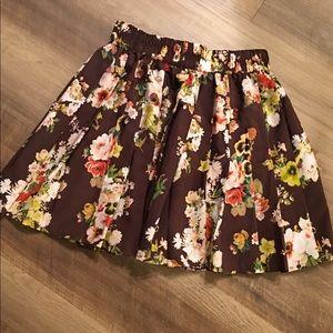 Princess Vera Wang Floral Miniskirt